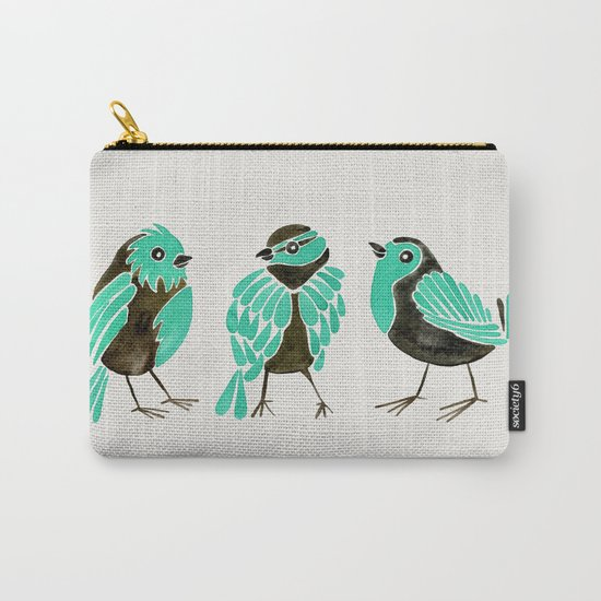 Turquoise Finches Carry-All Pouch