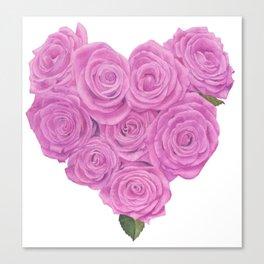 i heart roses Canvas Print
