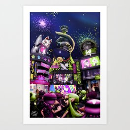 Splatoon - Final Splatfest Art Print