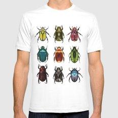 Scarab Beetles White Mens Fitted Tee MEDIUM