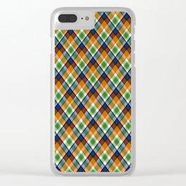 Plaid 19 Clear iPhone Case