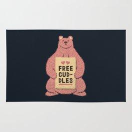 Cute Bear Free Cuddles Pink Rug