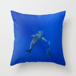 Hawaiian Shark III Throw Pillow