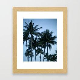 Palm Trees at Dusk Framed Art Print