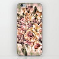shabby chic iPhone & iPod Skins featuring Shabby Charm Chic Roses by Joke Vermeer