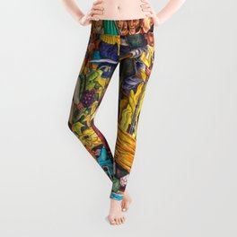 History of Mexico by Diego Rivera Leggings