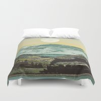 ariana grande Duvet Covers featuring Rio Grande by Ruth Shaffer Art and Designs