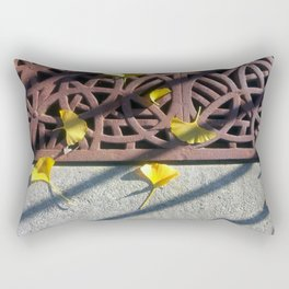 Grate and Ginko Leaves Rectangular Pillow