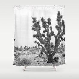 joshua tree bw Shower Curtain