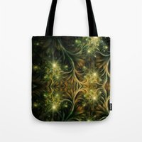 fireflies Tote Bags featuring Fireflies by Happi Anarky