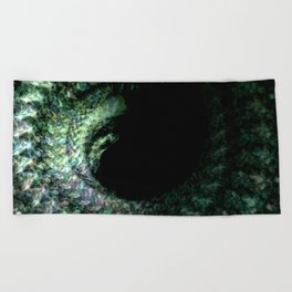 Emerald Spiral Beach Towel