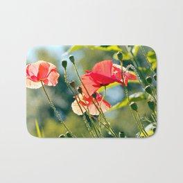 Backlit poppies Bath Mat