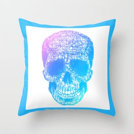 Scribble Skull Throw Pillow