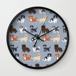 CANADIAN DOGS Wall Clock
