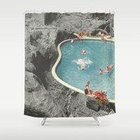 allison argent Shower Curtains featuring is this the place that they call paradise? by Jesse Treece
