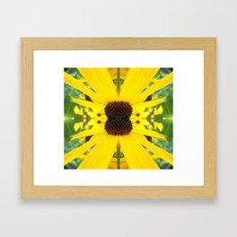 Trippy Sunflower Framed Art Print