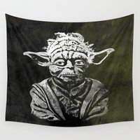 yoda Wall Tapestries featuring Yoda by Some_Designs