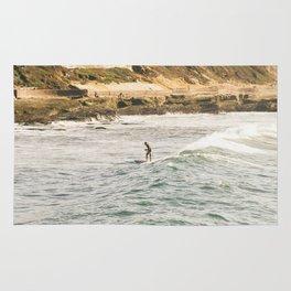 Braving the Surf Mission Beach San Diego California Rug
