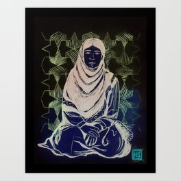 NOMAD WOMAN Art Print