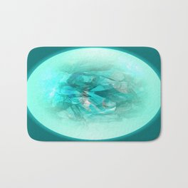 Chrystal Glow Blue Abstract Bath Mat