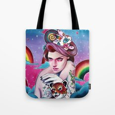 In the Candy Clouds of the Sticker Kingdom Tote Bag