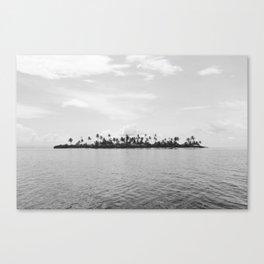 San Blas Islands, Panama - Black & White Canvas Print