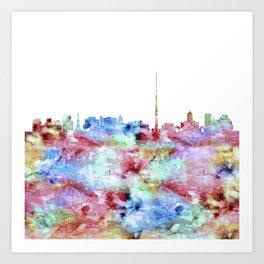 Dublin Skyline Ireland Art Print