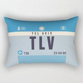 Luggage Tag A - TLV Tel Aviv Ben Gurion Israel Rectangular Pillow