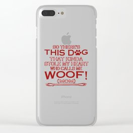 This Dog Stole My Heart! Clear iPhone Case