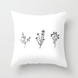 Wildflower Trio Throw Pillow