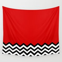 lynch Wall Tapestries featuring Black Lodge Dreams (Twin Peaks) by Welcome to Twin Peaks