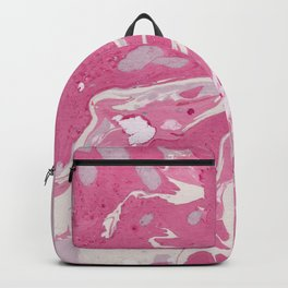 Soft Rose and Cream Marble Pattern Backpack
