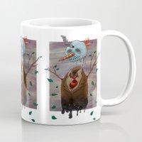 snow Mugs featuring Snow by gunberk