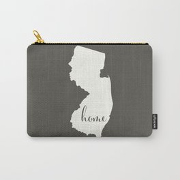 New Jersey is Home - White on Charcoal Carry-All Pouch