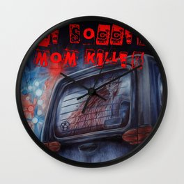 The Soccer Mom Killer Wall Clock