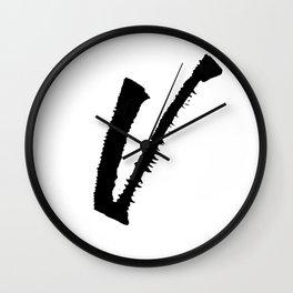 Letter V Ink Monogram Wall Clock