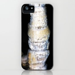 Watercolor Rock, Lechuguilla Cave 21, New Mexico, Dark Totem iPhone Case