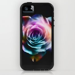 Tie Dye Colorful Rose iPhone Case
