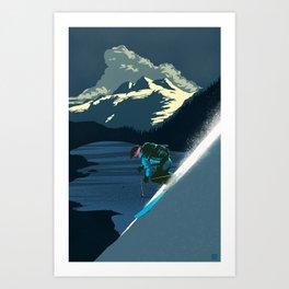 Retro ski Art Print