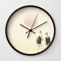 twilight Wall Clocks featuring twilight by Vin Zzep