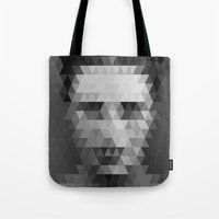 lights Tote Bags featuring Lights by Three of the Possessed
