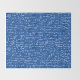 Math Equations // Royal Blue Throw Blanket