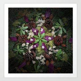 Nature Mandala: November Art Print