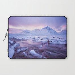 Freezing Mountain Lake Landscape Laptop Sleeve