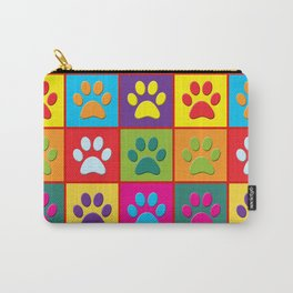 Pop Paw Prints Carry-All Pouch