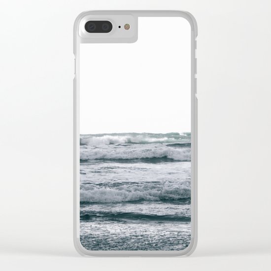 Waves V Clear iPhone Case