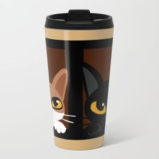 Lovely two cats Metal Travel Mug