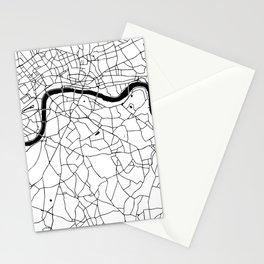 London Minimal Map Stationery Cards