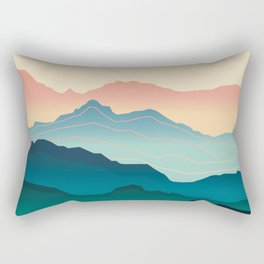 Wanderlust Gradient Mountain Rectangular Pillow