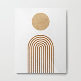 Jazzy Afternoon - Minimal Geometric Abstract - White 1 Metal Print